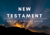 New Testament Lists of Spiritual Gifts