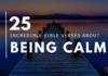 25 Incredible Calming Bible Verses