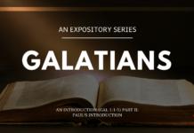 Galatians - An Introduction - Paul's Introduction Gal 11-5