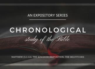 Matthew - The Kingdom Disposition - The Beatitudes